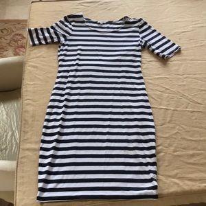 Splendid Sz Small Navy and White T Shirt Dress